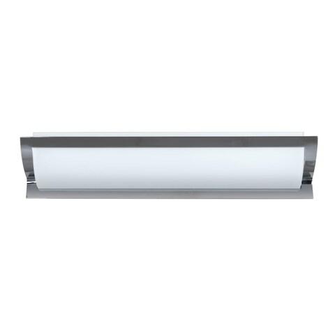 Besa Lighting ELANA26-SW Elana 3 Light Bathroom Vanity Light with Satin White Glass Shades