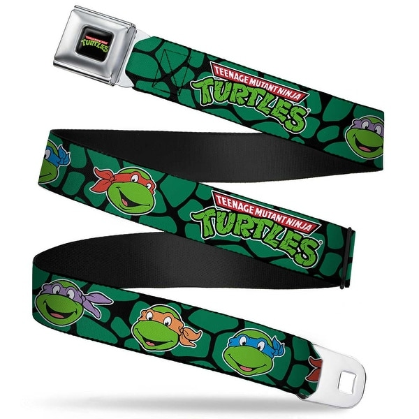 Classic Tmnt Logo Full Color Classic Teenage Mutant Ninja Turtles Faces Seatbelt Belt