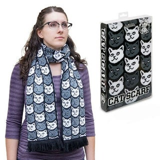 "Cat 71"" Soft-Knit Acrylic Scarf - Multi"