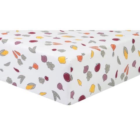 Farmers Market Flannel Fitted Crib Sheet