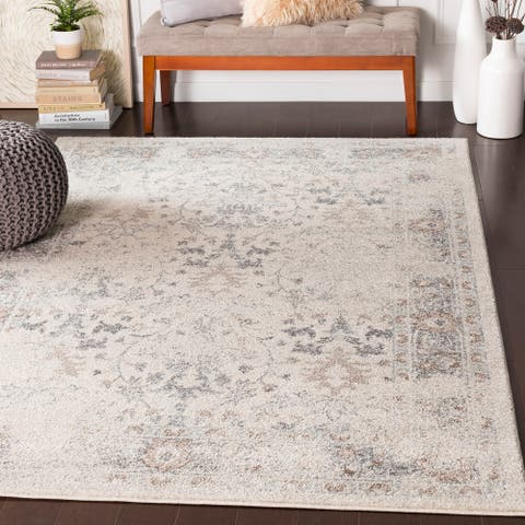 """Alethea Distressed Traditional Camel Area Rug - 7'10"""" x 10'3"""""""