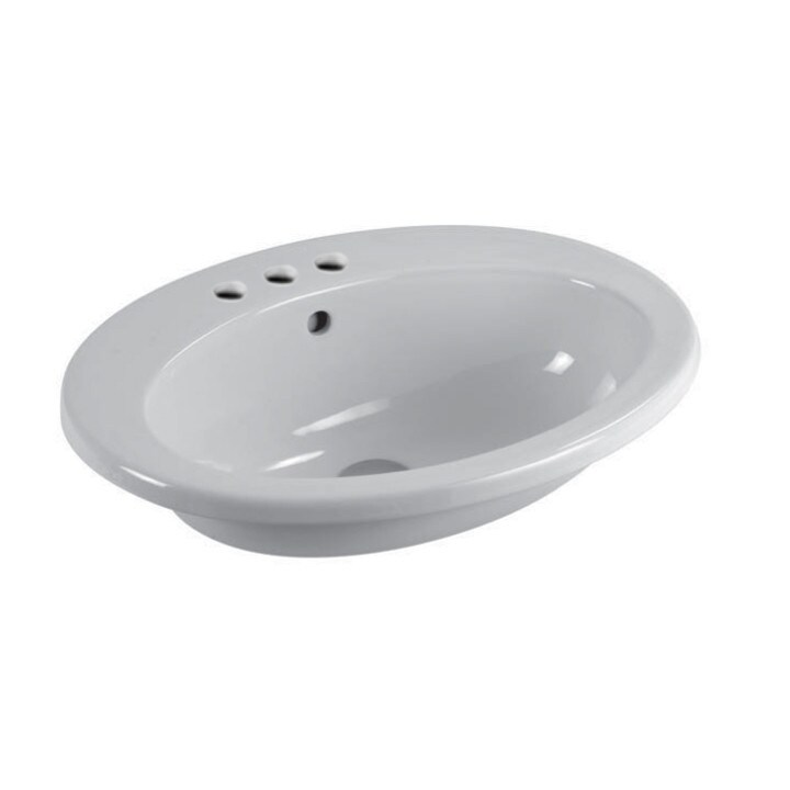 Nameeks Maliseon Gsi 22 2 5 Ceramic Drop In Bathroom Sink With Overflow White Three Hole Overstock 25653324
