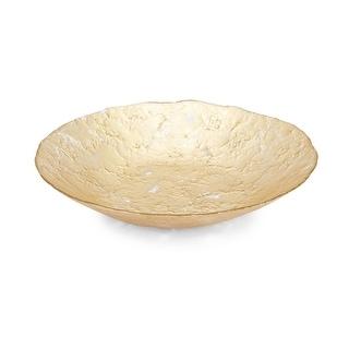 IMAX Home 83902  Glitz Glass Decorative Plate - Gold