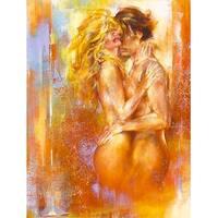 ''Les Amoureux II'' by Alain Dumas Kunst Graphics Art Print (31.5 x 23.5 in.)