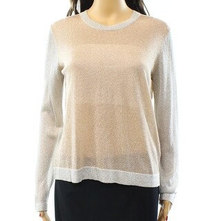 Marc by Marc Jacobs NEW Beige Women's Size Small S Shimmer Sweater