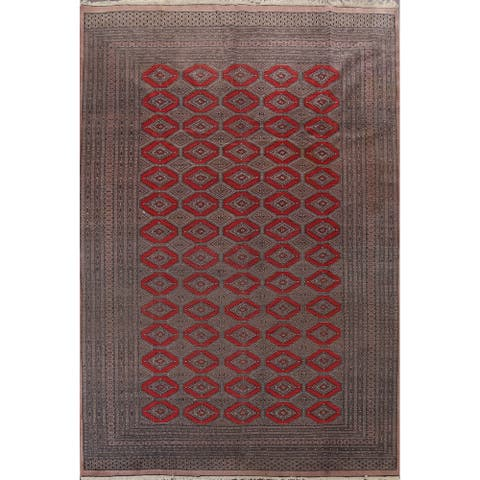 """Clearance Vintage Bokhara Oriental Area Rug Hand-knotted Wool Carpet - 8'5"""" x 11'1"""""""