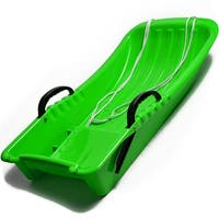 "31.5"" Kids Snow Sled Plastic Toboggan Boat Sledge Snowboard Green 31.5x15.7x5.3inch"