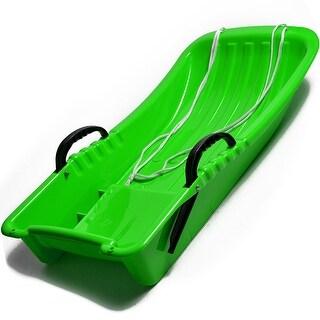 "31.5"" Kids Snow Sled Plastic Toboggan Boat Sledge Snowboard 31.5x15.7x5.3inch - N/A"