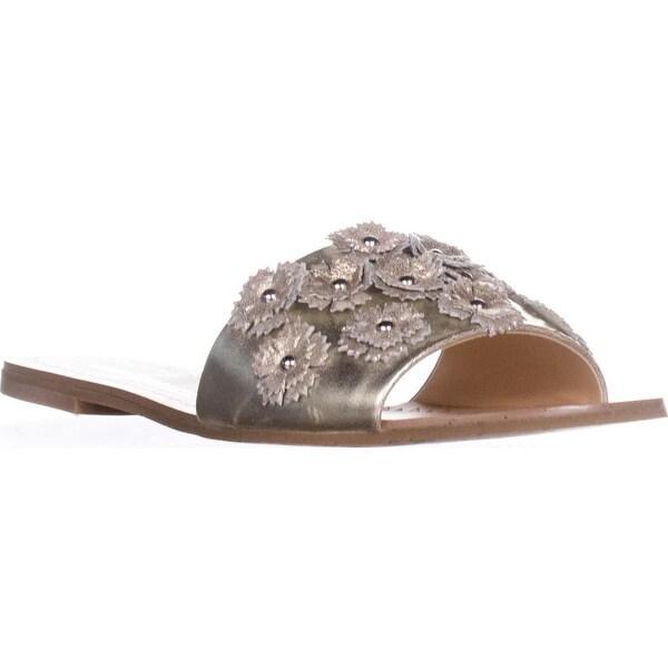 Daya by Zendaya Flat Slide Sandals, Gold - 7 us