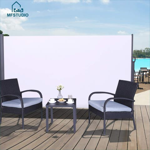 MFSTUDIO Outdoor Side Awning, Patio Retractable Screen Private Space Divider