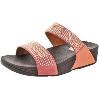 FitFlop Women's Aztec Chada Leather Slide Sandals