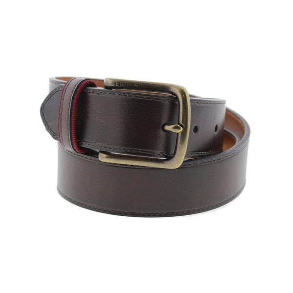 12b51799b1bc Shop Tommy Hilfiger Mens Casual Belt Faux Leather Buckle - Free Shipping On  Orders Over  45 - Overstock - 15200094