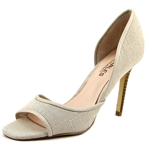 Charles By Charles David Intake Women Open-Toe Canvas Slingback Heel