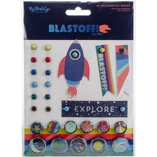 Blastoff Decorative Brads 24/Pkg-