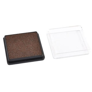 Office School Black Clear Plastic Case Coffee Color Ink Stamp Pad