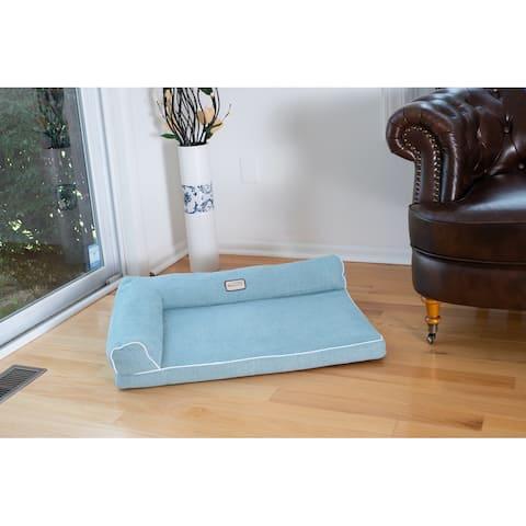 "Armarkat Model D08B Pet Bed with 2"" Thick Memory Foam Mattress - Blue"