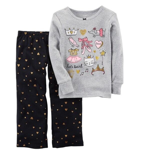 adf2b17bb Shop Carter s LIttle Girls  2-Piece Ballerina Cotton   Fleece PJs