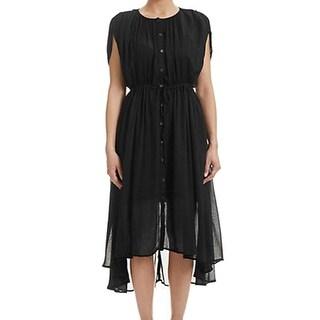 Free People NEW Black Women's Size Large L Sweet Talk Sheath Dress