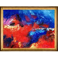 Abstract 56452 by Pol Ledent Framed Hand Painted Oil on Canvas