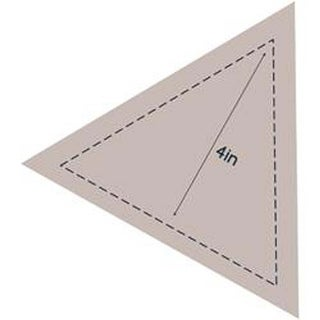 """Equilateral Triangle 4"""" - Couture Creations Quilt Essentials Quilting Die"""