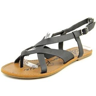 American Rag Logan Women Open-Toe Synthetic Black Slingback Sandal