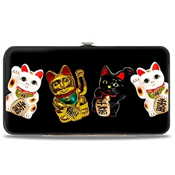Buckle-Down Hinge Wallet - Lucky Cats