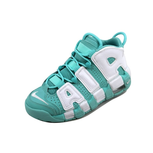 new product 2fea1 49c3f Nike Grade-School Air More Uptempo Island Green White 415082-300