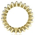 4.50 cttw. 14K Yellow Gold Marquise Diamond Eternity Ring - Thumbnail 1