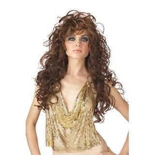 Adult Brown Seduction Wig for Halloween costume - standard - one size