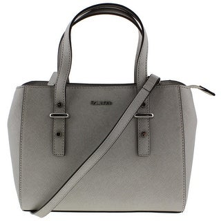 Calvin Klein Womens Saffiano Satchel Handbag Metallic Convertible - small