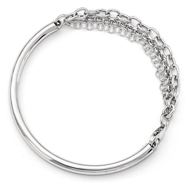 Italian Sterling Silver Fancy Bracelet - 7 inches