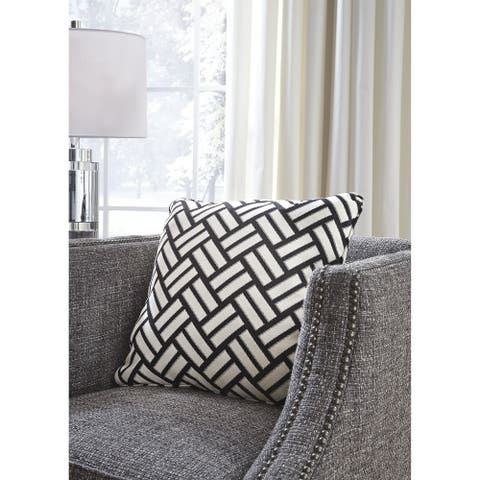 Ayres Black/White Indoor/Outdoor Throw Pillow