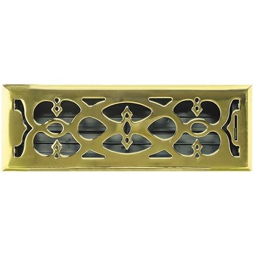 Greystone Home Products 4X12 Pbrass Flr Register AMFRPBV412 Unit: EACH