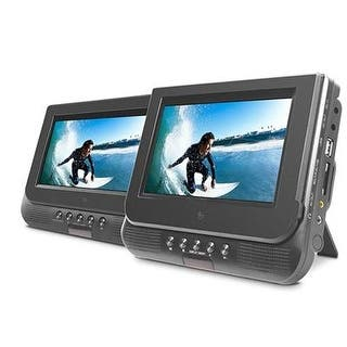 """Ematic Ed727 7"""" Dual Screen Portable Dvd Player