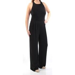 RALPH LAUREN $160 Womens 1420 Black Cut Out Crisscross Back Jumpsuit 14 B+B