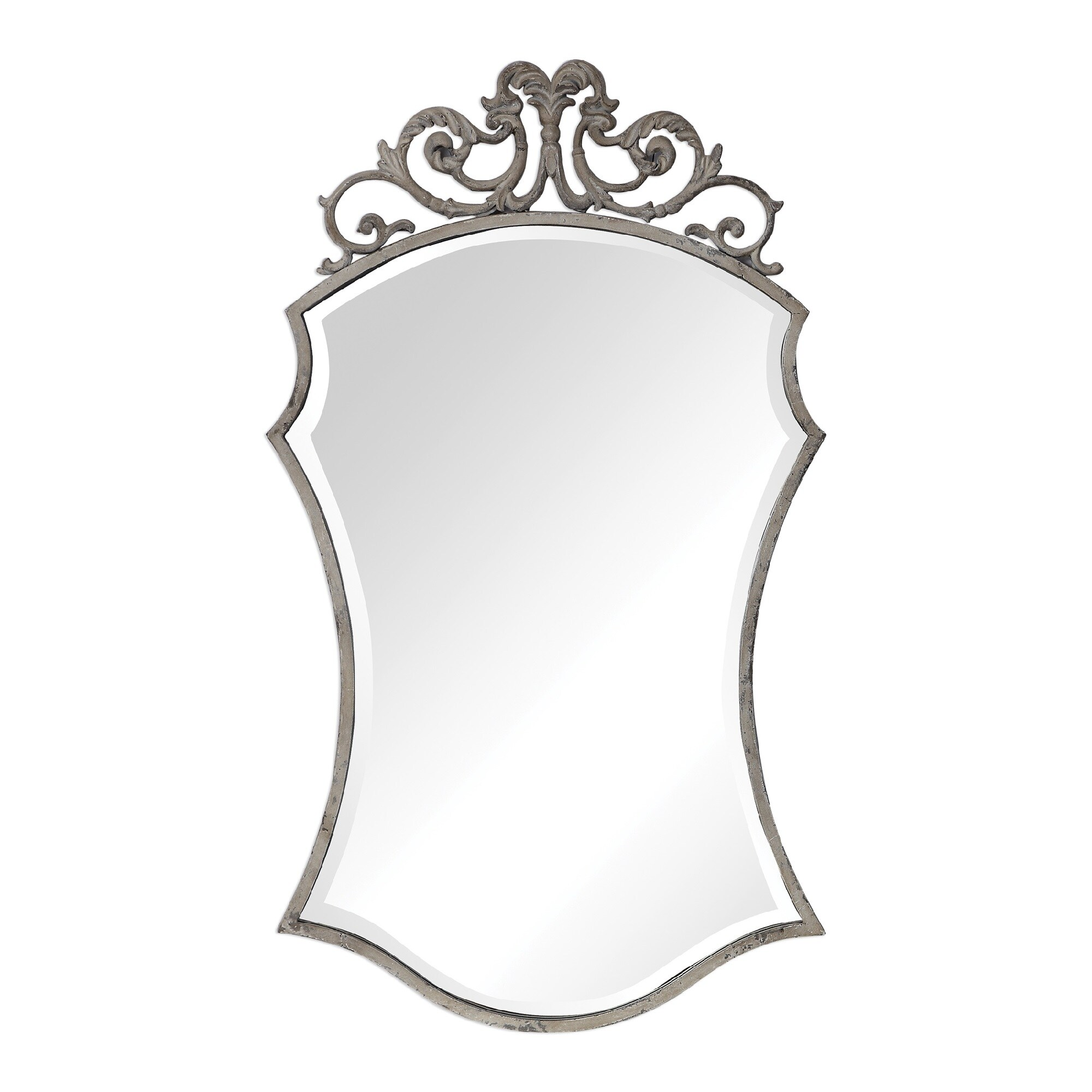 White Ornate Hanging Wall Mirror