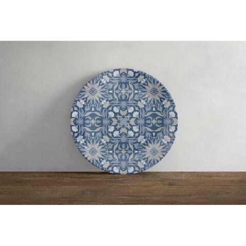 Amrita Sen Jahan Paisley 10 in Decorative Microwave Safe Thermosaf Dinner Plate