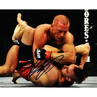 Georges St Pierre UFC MMA Fighting On Ground Action 8x10 Photo