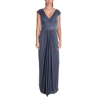 Adrianna Papell Womens Mesh Prom Evening Dress