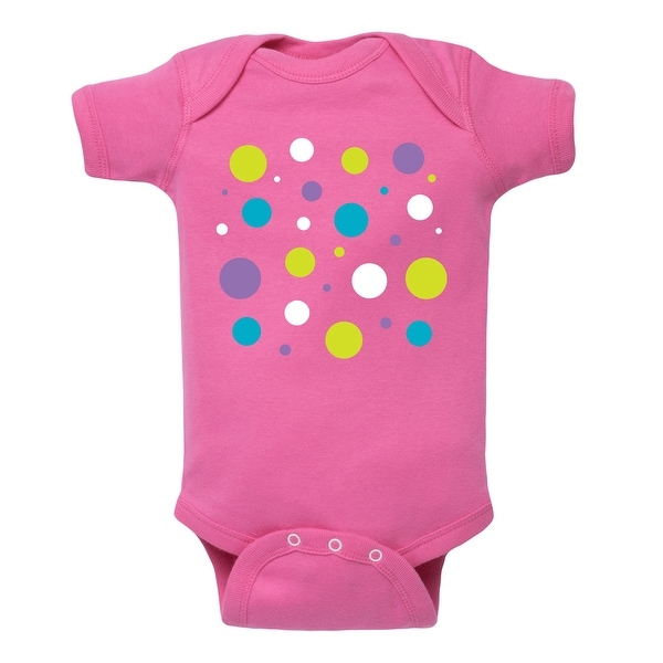 Bright Colored Polka Dots - Infant One Piece