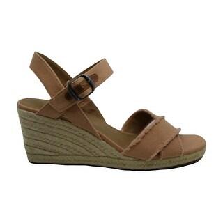 Lucky Brand Womens Margaline Fabric Open Toe Casual Platform Sandals