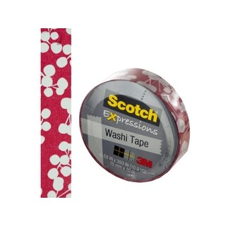 Scotch Expressions Red Holly Washi Tape - Pack of 24