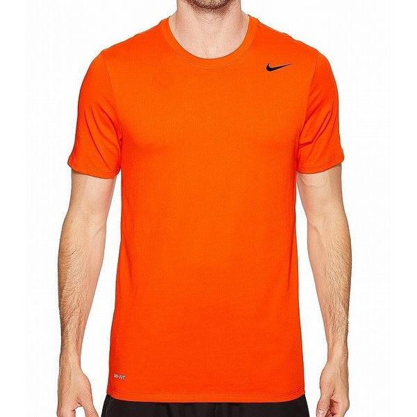 74c0fd637 Shop Nike Orange Mens Size XL Dri-Fit Crewneck Performance Tee T-Shirt -  Free Shipping On Orders Over $45 - Overstock - 22398279