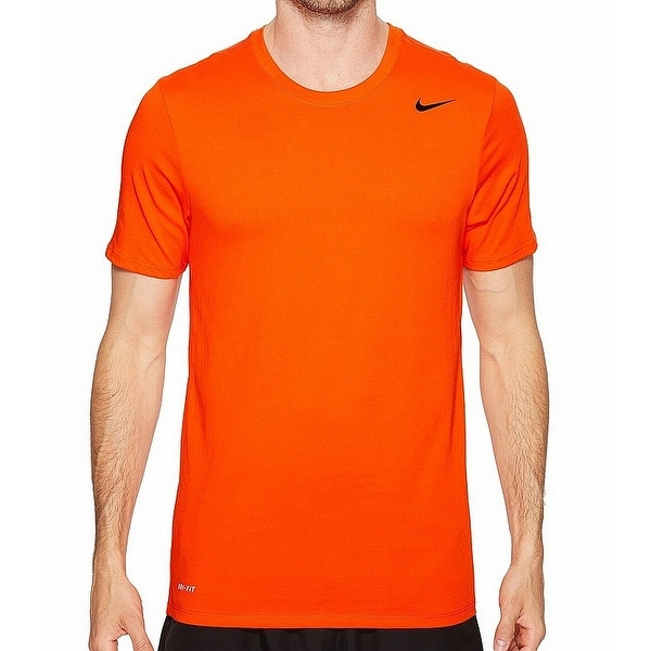 2f294154 Shop Nike Orange Mens Size XL Dri-Fit Crewneck Short-Sleeve Tee T-Shirt - Free  Shipping On Orders Over $45 - Overstock - 27755853