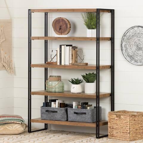 Gimetri Modern Industrial 5-Shelf Open Storage Unit