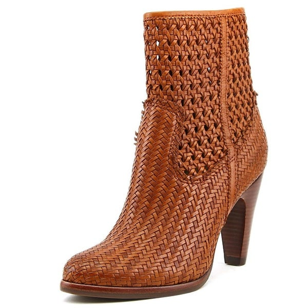 Frye Celeste Short Woven Women Round Toe Leather Ankle Boot