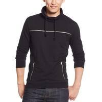 INC International Concepts Shawl Collar Sweatshirt Deep Black X-Large