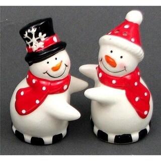 IWGAC 049-93051 Ceramic Snowman Salt and Pepper Set