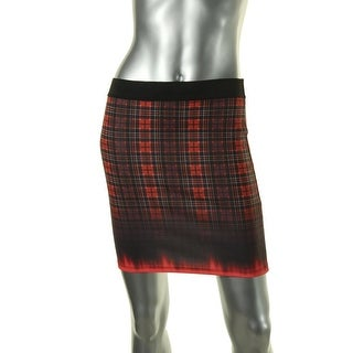 Zara Trafaluc Womens Plaid Pull On Mini Skirt