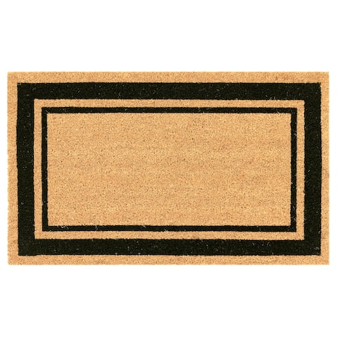 Liora Manne Natura Double Border Outdoor Mat Black
